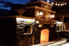 Outdoor-fireplace-LED-tape-light